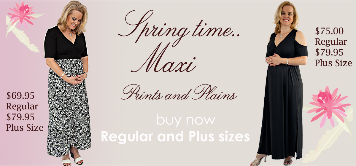 Spring Maxi dresses prints and plains
