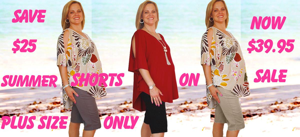 Plus size summer shorts sales