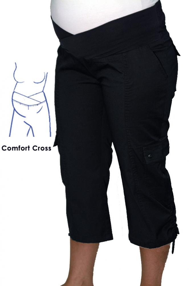 Maternity 3/4 Cargo Pant In Black