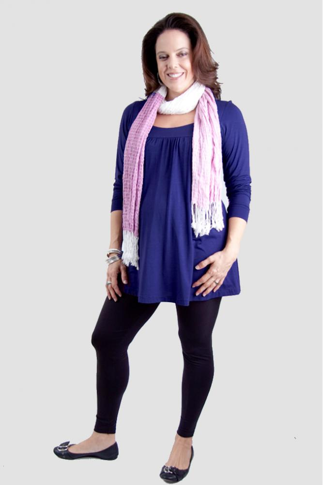 Knit top and footless leggings