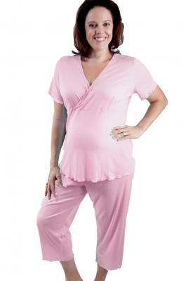 Maternity plus size breastfeeding pyjamas
