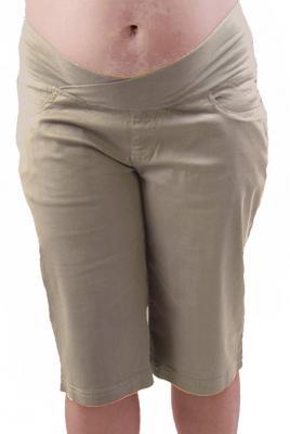 Plus Size Maternity Summer Dress Short in Beige