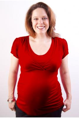 Discreet Breastfeeding Top Deep Red