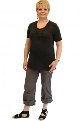 Maternity Plus Size Casual Cargo Pant