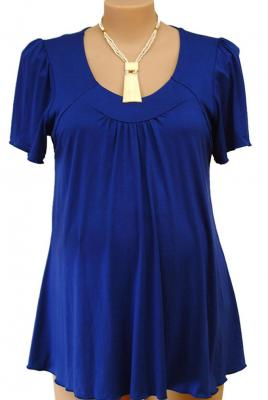 Maternity Plus Size Top Short Sleeve Yoke Front