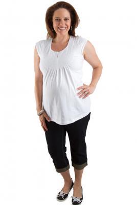Maternity cropped jeans dark denim