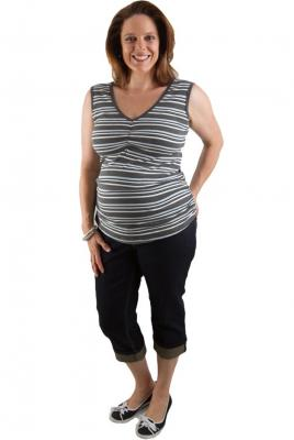 Maternity cropped jeans vintage denim