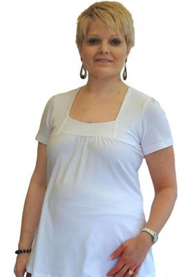 Maternity Square Neck Top White