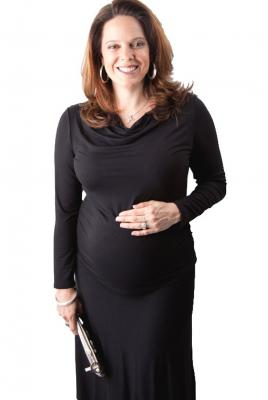 Maternity Cowl Neck Dress in Black