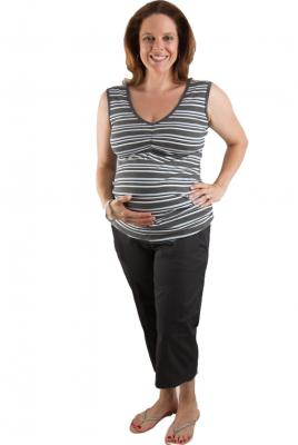 Maternity Plus Size Capri Pant In Black