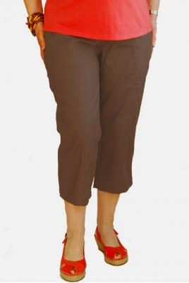Maternity Plus Size Capri Pant In Clay