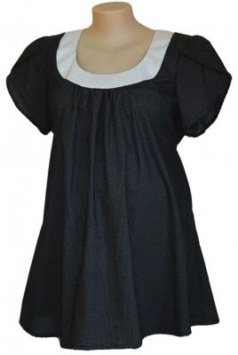 Maternity Plus Size smock top contrast collar