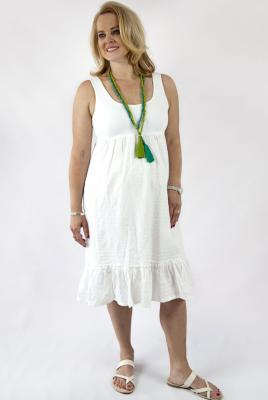 Maternity Embroidered Cotton Sundress