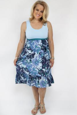 Maternity Cotton Print Plus Size Sundress