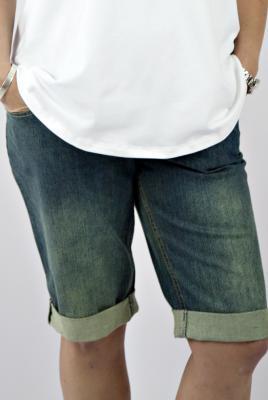 Maternity vintage stretch denim short